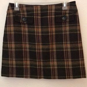 Michael Michael Kors wool mix skirt plaid mini 4